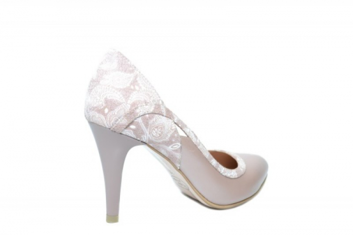 Pantofi cu toc Piele Naturala Nude Moda Prosper Gia D02024 3