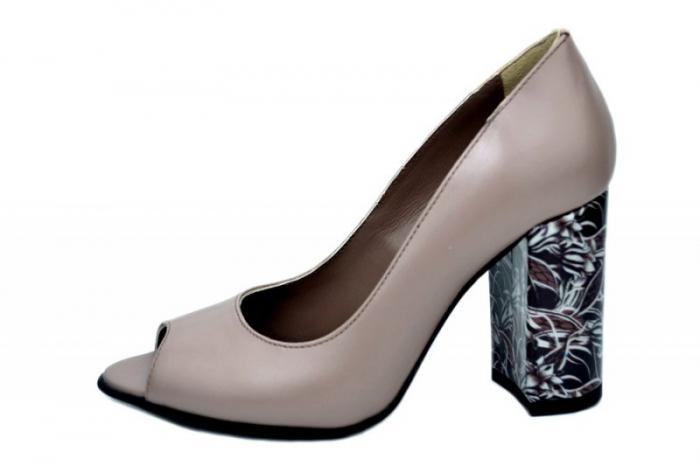 Pantofi Dama Piele Naturala Grej Moda Prosper Gina D01623 [0]