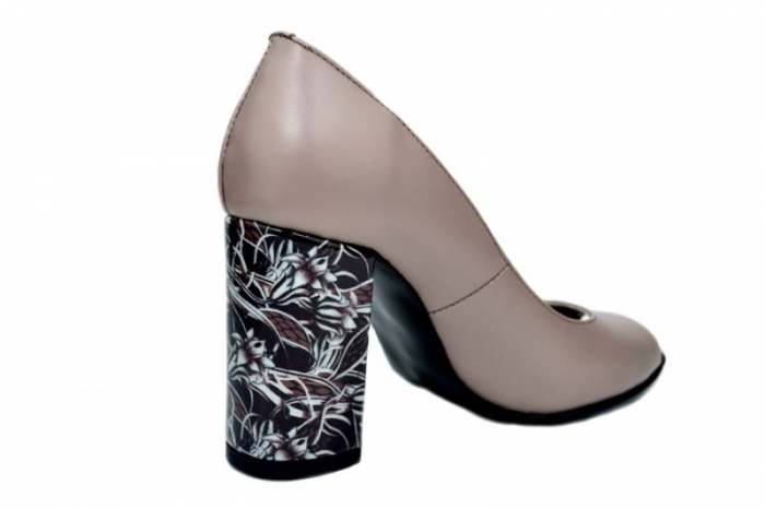 Pantofi Dama Piele Naturala Grej Moda Prosper Gina D01623 [1]