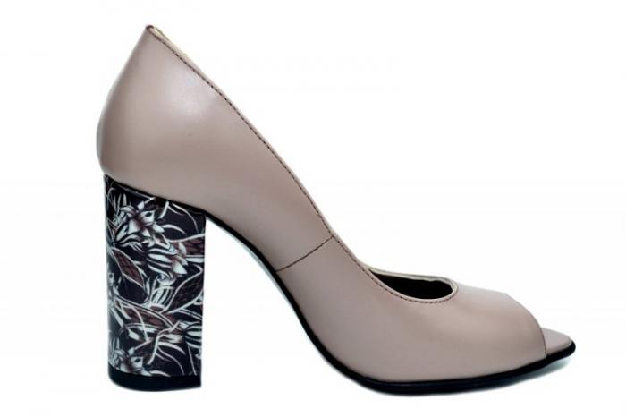 Pantofi Dama Piele Naturala Grej Moda Prosper Gina D01623 [3]
