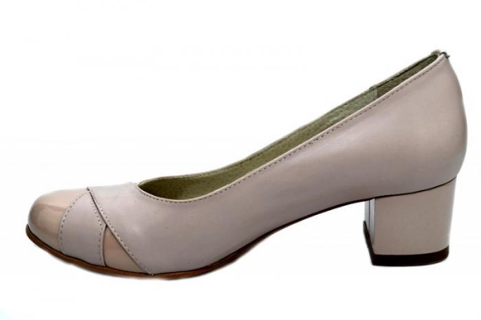 Pantofi cu toc Piele Naturala Bej Giorgia D01303 1