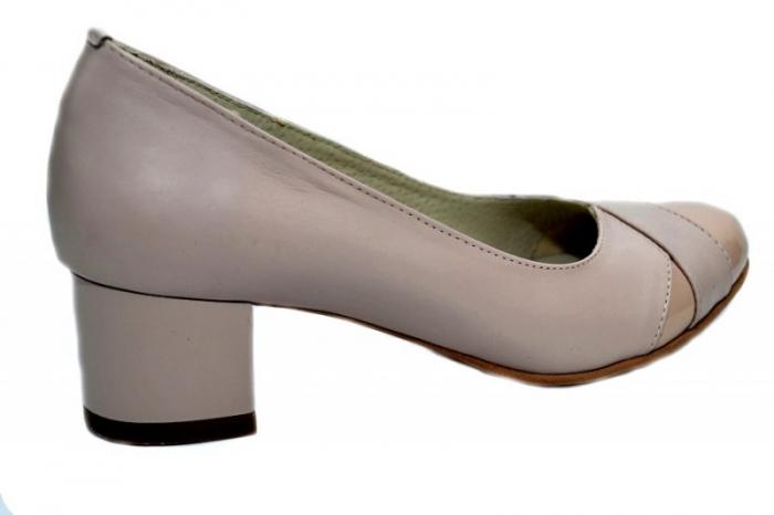 Pantofi cu toc Piele Naturala Bej Giorgia D01303 3