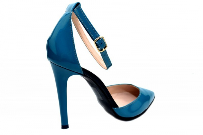 Pantofi Dama Piele Naturala Turquoise Giulio Desiree D01348 3