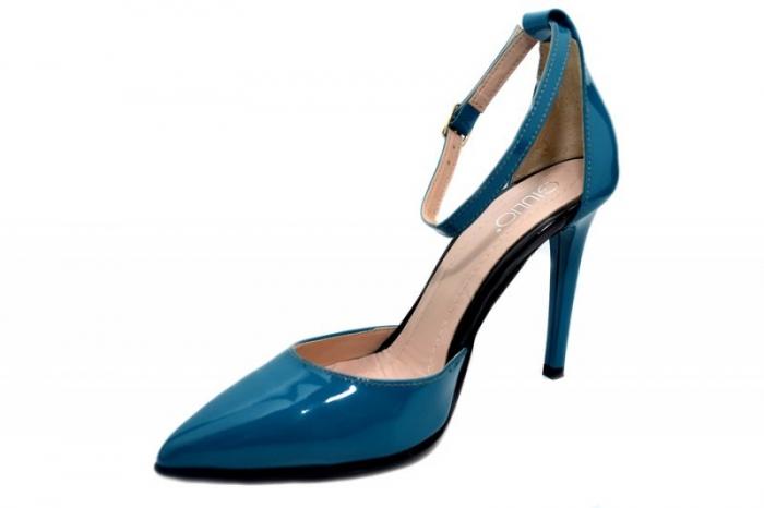 Pantofi Dama Piele Naturala Turquoise Giulio Desiree D01348 2