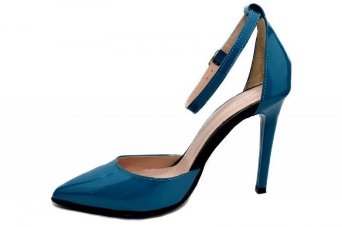Pantofi Dama Piele Naturala Turquoise Giulio Desiree D01348 1