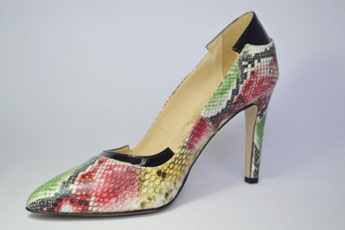 Pantofi cu toc Piele Naturala Guban Multicolori Bena D00646 2