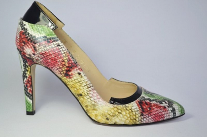 Pantofi cu toc Piele Naturala Guban Multicolori Bena D00646 0