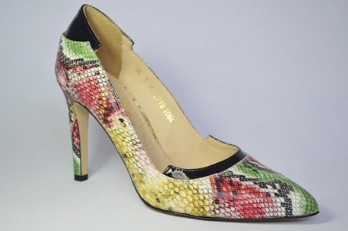 Pantofi cu toc Piele Naturala Guban Multicolori Bena D00646 3