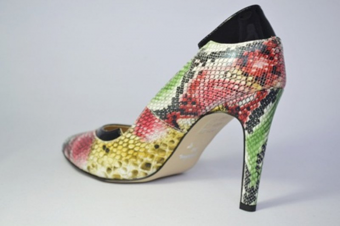 Pantofi cu toc Piele Naturala Guban Multicolori Bena D00646 4