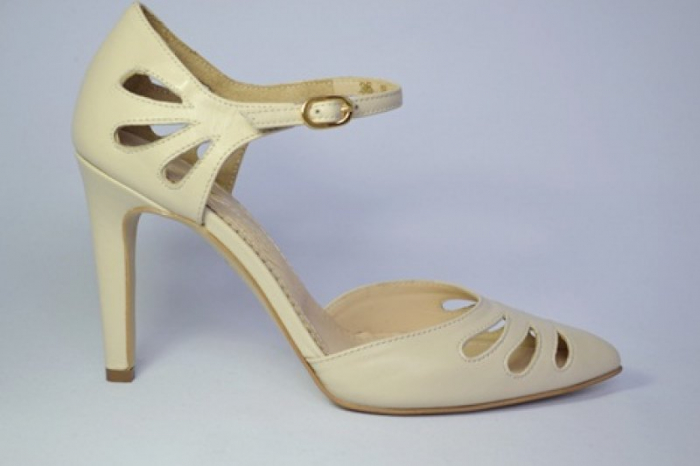 Pantofi Dama Piele Naturala Guban Bej Eliona D00650 0