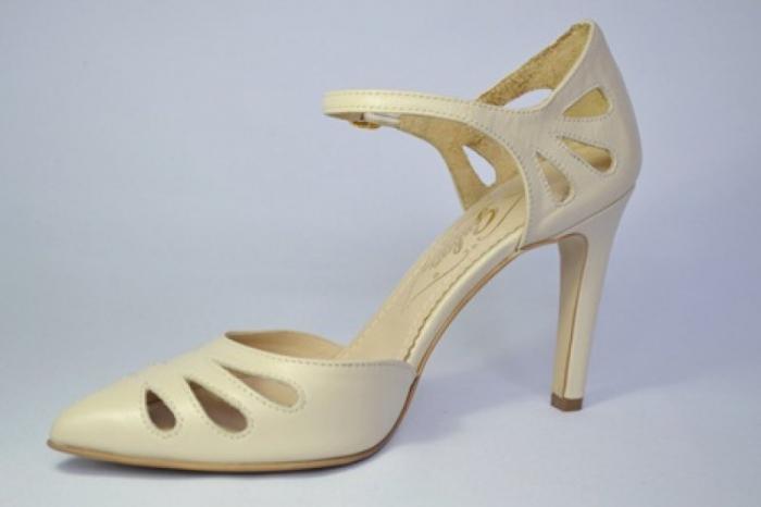 Pantofi Dama Piele Naturala Guban Bej Eliona D00650 2