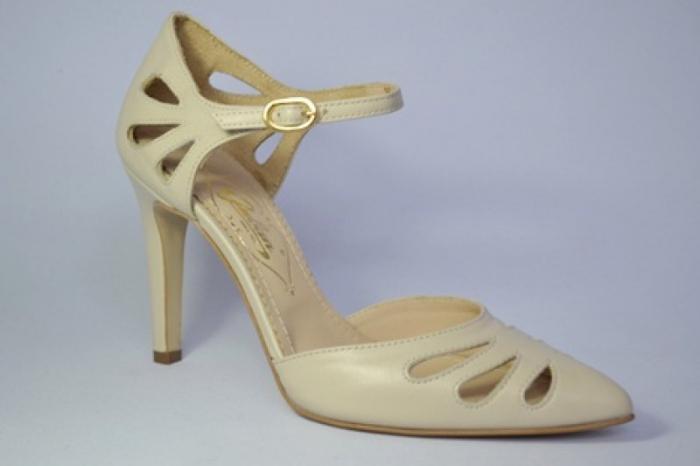 Pantofi Dama Piele Naturala Guban Bej Eliona D00650 3