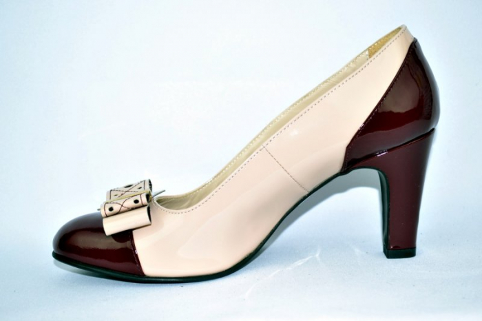 Pantofi cu toc Piele Naturala Guban Nude Vechi D00912 1