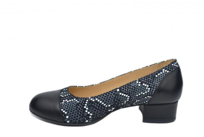Pantofi cu toc Piele Naturala Negri Guban Bega D02126 1