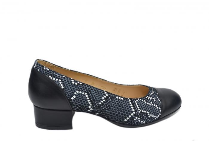 Pantofi cu toc Piele Naturala Negri Guban Bega D02126 0