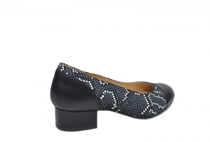 Pantofi cu toc Piele Naturala Negri Guban Bega D02126 3