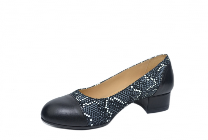 Pantofi cu toc Piele Naturala Negri Guban Bega D02126 2