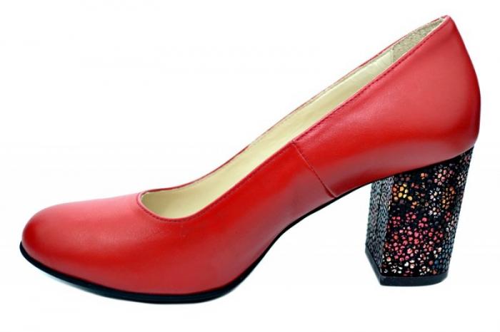Pantofi cu toc Piele Naturala Rosii Guban Galina D01796 1
