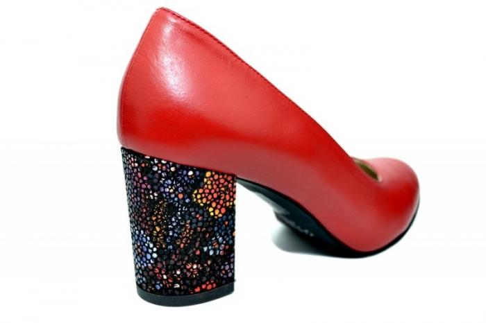Pantofi cu toc Piele Naturala Rosii Guban Galina D01796 3