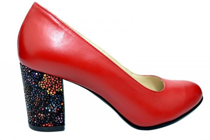Pantofi cu toc Piele Naturala Rosii Guban Galina D01796 0