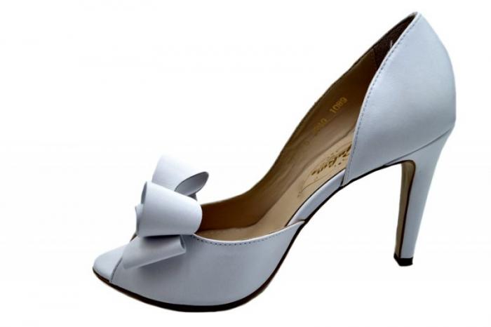 Pantofi Dama Piele Naturala Albi Guban Ivanna D01570 1