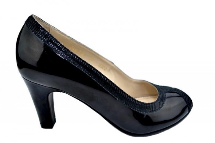 Pantofi cu toc Piele Naturala Negri Guban Kelley D01580 [0]