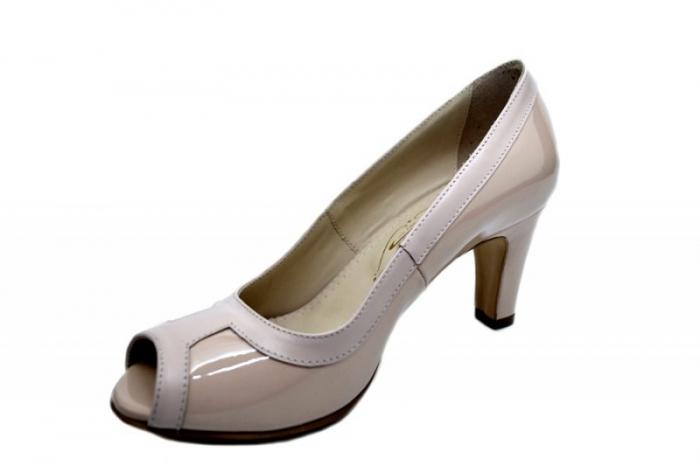 Pantofi cu toc Piele Naturala Nude Guban Kelley D01582 2