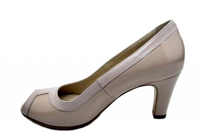 Pantofi cu toc Piele Naturala Nude Guban Kelley D01582 1