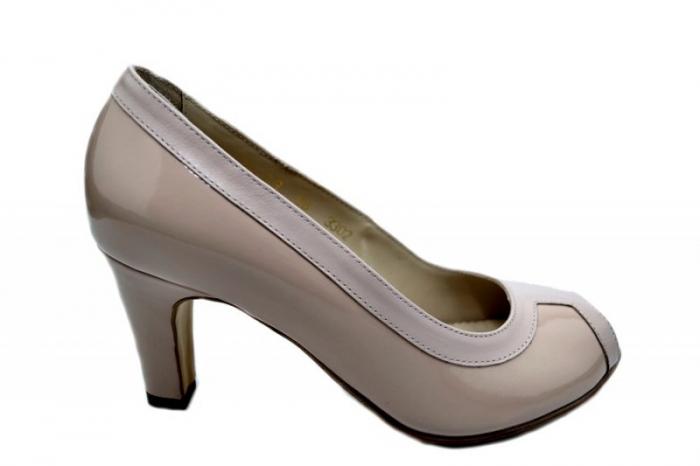 Pantofi cu toc Piele Naturala Nude Guban Kelley D01582 0