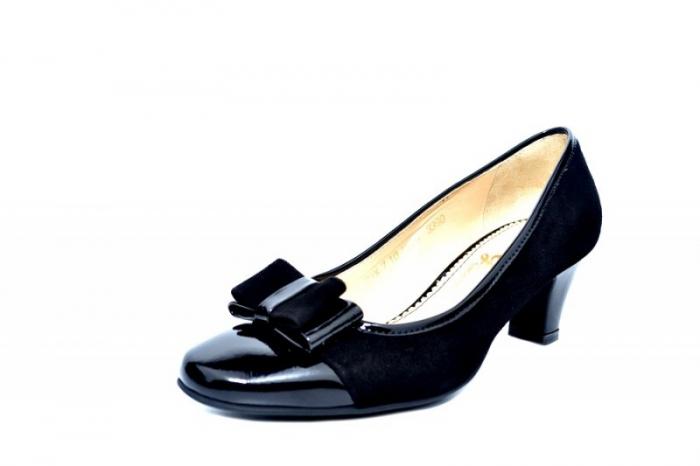 Pantofi cu toc Piele Naturala negri Guban Larissa D01811 2