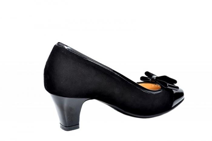 Pantofi cu toc Piele Naturala negri Guban Larissa D01811 3