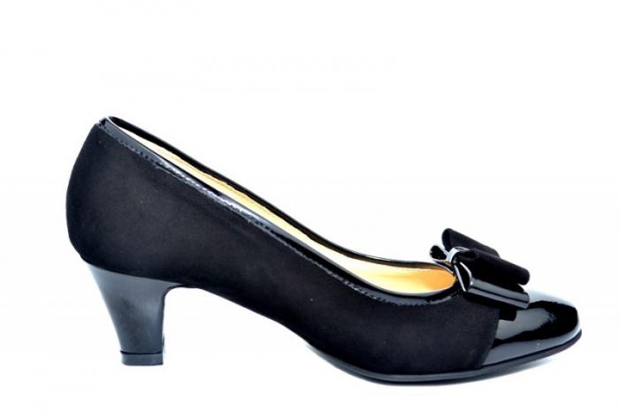 Pantofi cu toc Piele Naturala negri Guban Larissa D01811 [0]