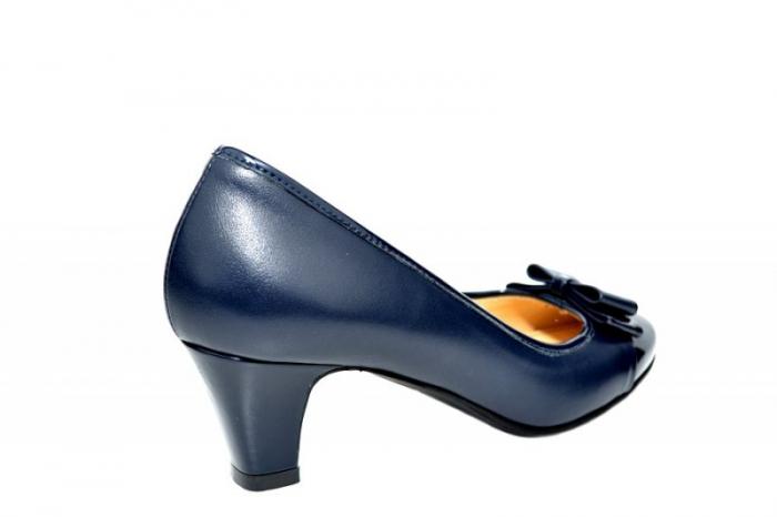 Pantofi cu toc Piele Naturala Bleumarin Guban Larissa D01817 3