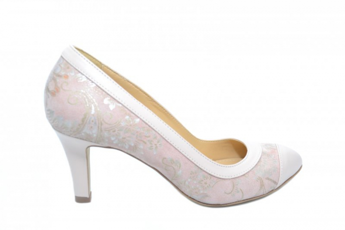 Pantofi cu toc Piele Naturala Nude Guban Lorrany D01843 0