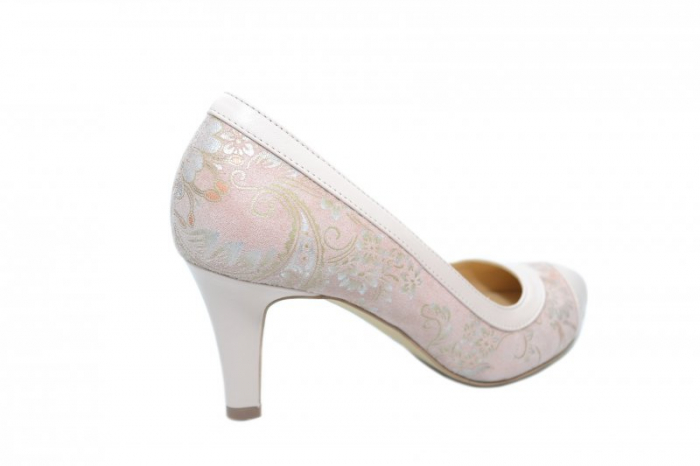 Pantofi cu toc Piele Naturala Nude Guban Lorrany D01843 3