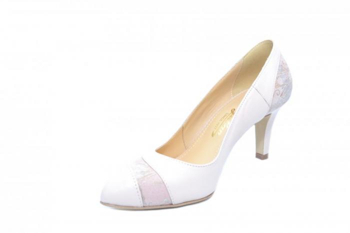 Pantofi cu toc Piele Naturala Nude Guban Lorrany D01843 2