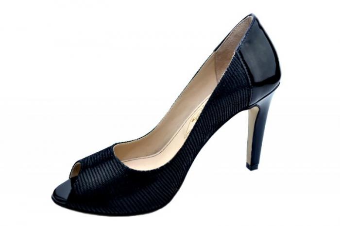 Pantofi Dama Piele Naturala Negri Guban Melina D01572 2