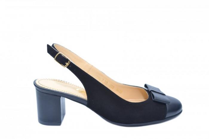 Pantofi Dama Piele Naturala Negri Guban Naely D01841 0