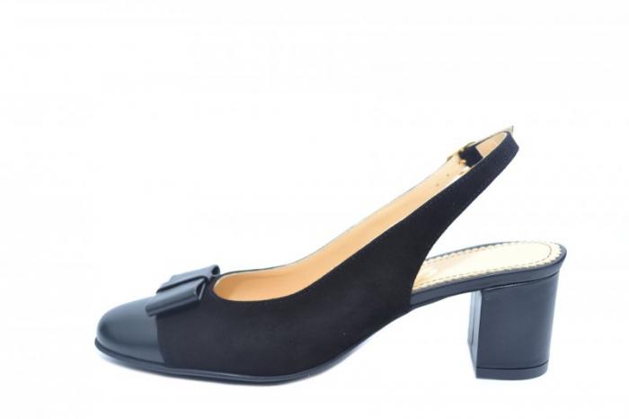 Pantofi Dama Piele Naturala Negri Guban Naely D01841 1