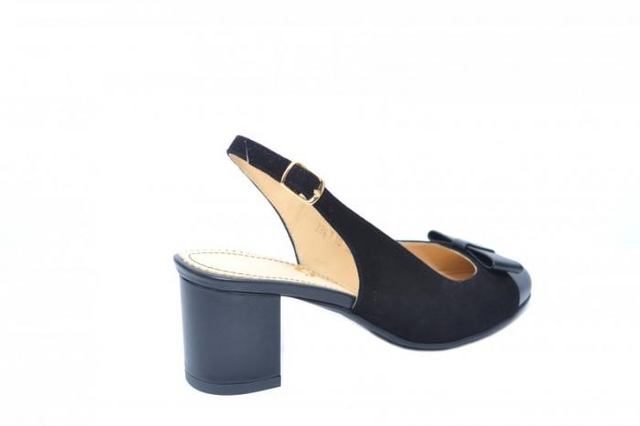 Pantofi Dama Piele Naturala Negri Guban Naely D01841 3