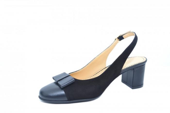 Pantofi Dama Piele Naturala Negri Guban Naely D01841 2