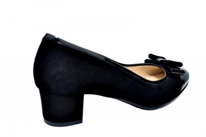 Pantofi cu toc Piele Naturala Negri Guban Stephanie D01759 3