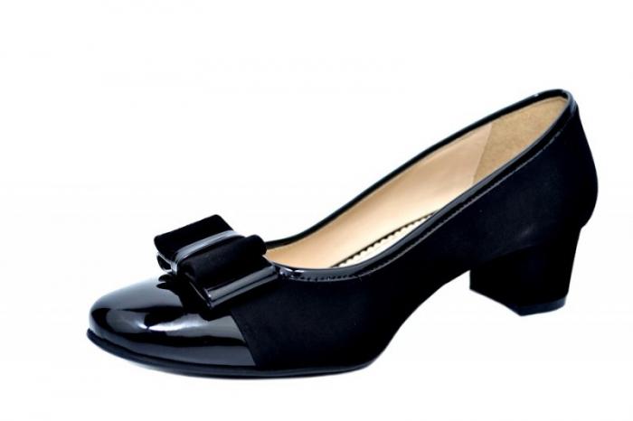 Pantofi cu toc Piele Naturala Negri Guban Stephanie D01759 2