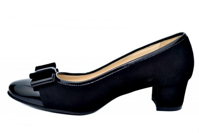 Pantofi cu toc Piele Naturala Negri Guban Stephanie D01759 1