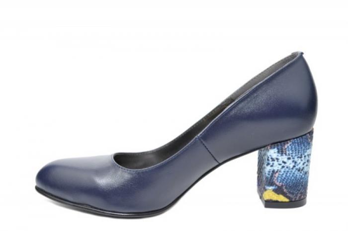 Pantofi cu toc Piele Naturala Bleumarin Moda Prosper Hazel D02025 [0]
