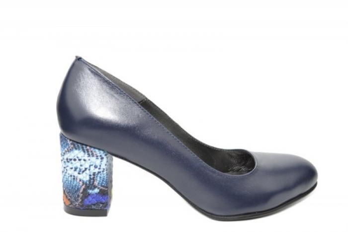 Pantofi cu toc Piele Naturala Bleumarin Moda Prosper Hazel D02025 [2]