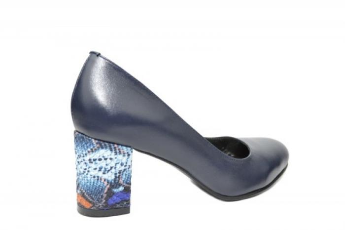 Pantofi cu toc Piele Naturala Bleumarin Moda Prosper Hazel D02025 [3]