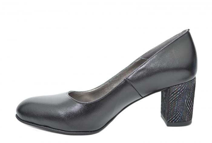 Pantofi cu toc Piele Naturala Negri Moda Prosper Hazel D02070 3