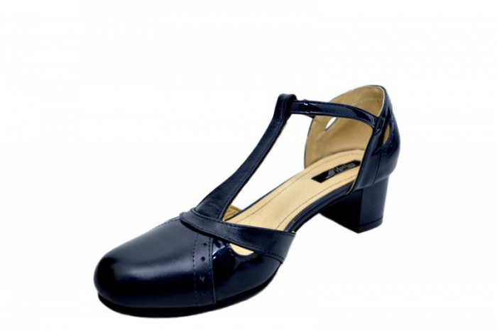 Pantofi Dama Piele Naturala Bleumarin Helene D01579 2