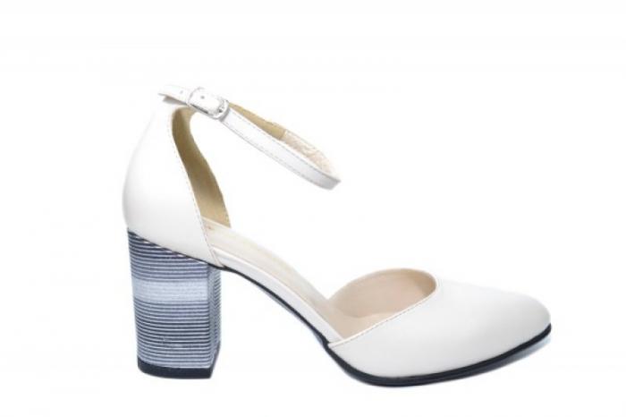 Pantofi Dama Piele Naturala Bej Moda Prosper Iris D02030 [0]